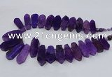 CTD2820 Top drilled 15*30mm - 18*45mm sticks agate gemstone beads