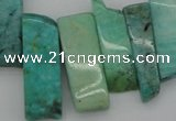 CTD355 Top drilled 10*28mm - 10*50mm wand Russian amazonite beads