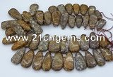 CTD3597 Top drilled 10*22mm - 20*45mm freeform opal gemstone beads
