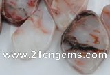 CTD360 Top drilled 18*25mm - 25*35mm freeform agate gemstone beads