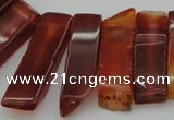 CTD363 Top drilled 10*28mm - 10*55mm wand red agate beads