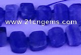 CTD3885 Top drilled 8*10mm - 10*14mm freeform blue kyanite beads