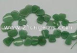 CTD398 Top drilled 15*18mm - 25*30mm freeform green aventurine beads