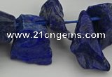 CTD432 15.5 inches 12*20mm - 15*25mm nuggets lapis lazuli beads