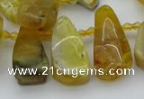 CTD487 Top drilled 10*22mm - 15*45mm freeform yellow opal beads