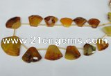 CTD507 Top drilled 25*30mm - 35*40mm freeform agate beads