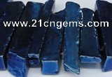 CTD538 Top drilled 10*30mm - 10*65mm wand plated agate beads