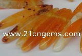 CTD584 Top drilled 6*20mm - 6*45mm wand agate gemstone beads