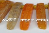 CTD597 Top drilled 10*30mm - 12*45mm wand agate gemstone beads