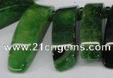 CTD599 Top drilled 10*30mm - 12*45mm wand agate gemstone beads