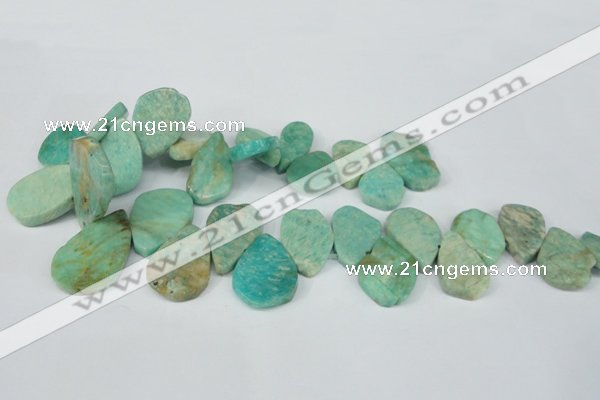 CTD635 Top drilled 18*25mm - 25*38mm freeform Russian amazonite beads