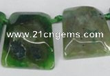 CTD664 Top drilled 25*30mm - 30*40mm freeform agate beads