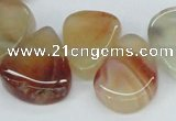CTD696 Top drilled 18*25mm - 22*30mm freeform agate gemstone beads