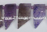 CTD732 Top drilled 15*20mm - 15*40mm wand agate gemstone beads