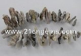CTD795 Top drilled 15*20mm - 25*45mm freeform agate gemstone beads