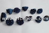 CTD992 Top drilled 12*15mm - 18*25mm nuggets plated druzy agate beads