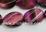 CTE1010 15.5 inches 20*30mm twisted oval dyed red tiger eye beads