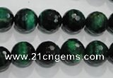 CTE1014 15.5 inches 10mm faceted round dyed green tiger eye beads