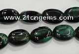 CTE1041 15.5 inches 10*14mm oval dyed green tiger eye beads