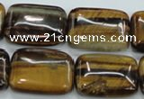 CTE107 15.5 inches 18*25mm rectangle yellow tiger eye beads wholesale