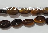 CTE1093 15.5 inches 9*12mm faceted oval yellow tiger eye beads