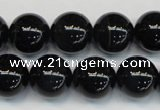 CTE1169 15.5 inches 14mm round AA grade blue tiger eye beads