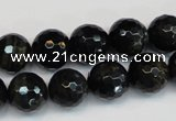 CTE1189 15.5 inches 12mm faceted round blue tiger eye beads
