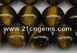 CTE1213 15.5 inches 12mm round AB grade yellow tiger eye beads