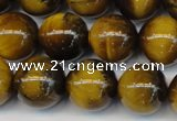 CTE1311 15.5 inches 8mm round B grade yellow tiger eye beads