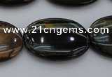 CTE1366 15.5 inches 22*30mm oval yellow & blue tiger eye beads