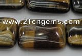 CTE1381 15.5 inches 18*25mm rectangle yellow & blue tiger eye beads