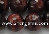 CTE1468 15.5 inches 20mm faceted round red tiger eye beads