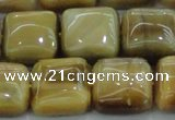CTE1529 15.5 inches 16*16mm square golden tiger eye beads wholesale