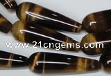 CTE155 15.5 inches 10*30mm teardrop yellow tiger eye gemstone beads