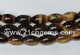 CTE158 15.5 inches 8*12mm rice yellow tiger eye gemstone beads