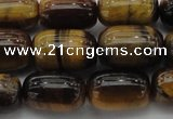 CTE1595 15.5 inches 10*15mm drum yellow tiger eye beads