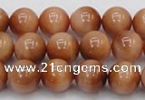 CTE1651 15.5 inches 6mm round sun orange tiger eye beads