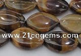 CTE1711 15.5 inches 12*18mm marquise yellow tiger eye beads