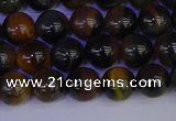 CTE1802 15.5 inches 8mm round blue iron tiger beads wholesale