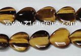CTE183 15.5 inches 18*18mm heart yellow tiger eye gemstone beads