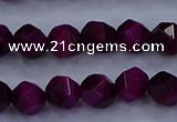 CTE1906 15.5 inches 6mm faceted nuggets red tiger eye beads
