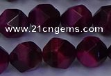 CTE1908 15.5 inches 10mm faceted nuggets red tiger eye beads