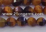 CTE1991 15.5 inches 6mm faceted round yellow tiger eye beads