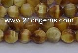 CTE1996 15.5 inches 6mm faceted round golden tiger eye beads