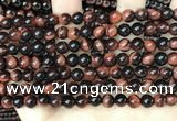 CTE2169 15.5 inches 6mm round red tiger eye beads wholesale