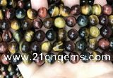 CTE2204 15.5 inches 12mm round mixed tiger eye gemstone beads