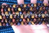 CTE2210 15.5 inches 6mm round colorful tiger eye beads wholesale