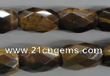 CTE334 15.5 inches 13*20mm faceted drum yellow tiger eye gemstone beads