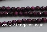 CTE471 15.5 inches 6mm faceted round red tiger eye beads wholesale