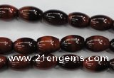 CTE51 15.5 inches 8*12mm rice red tiger eye gemstone beads